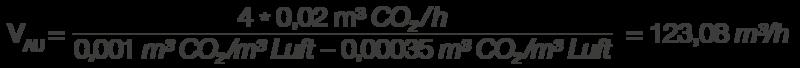 Lüftungsplanung - Beispielberechnung für einen Luftaustausch