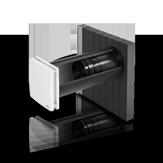 Unsichtbarer Schalldämmlüfter inVENTer iV14-Zero Corner