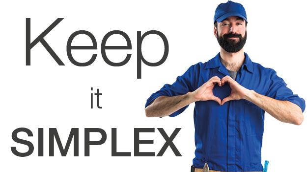 Montageblock Simplex - Keep it Simplex