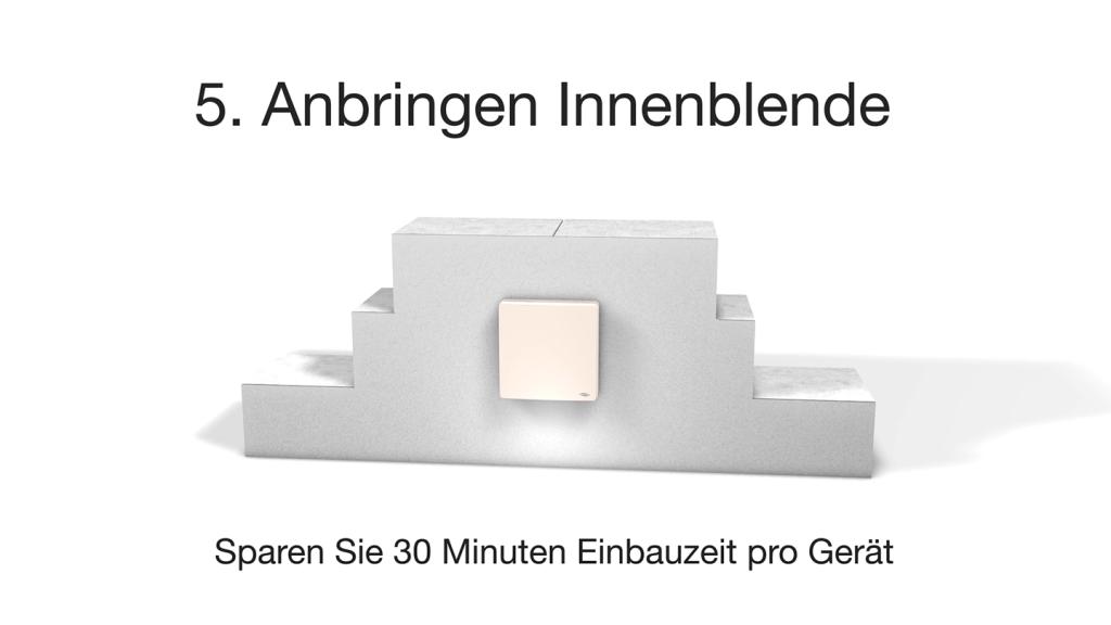 Montagesystem Simplex - Lüftungsmntage: Anbringen der Innenblende