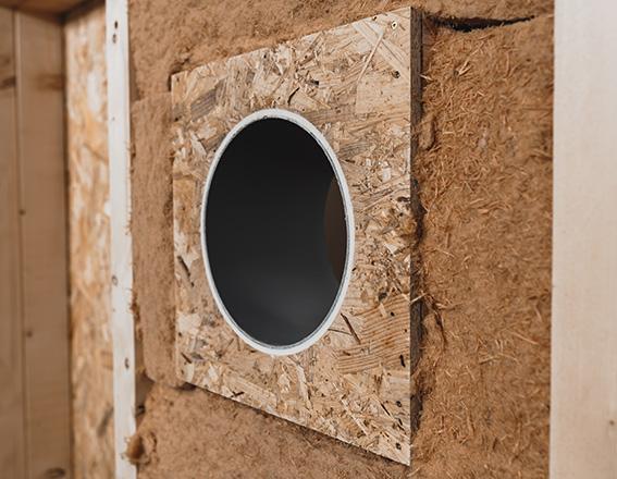 inVENTer Woodplex Holzständerwand mit Dämmung