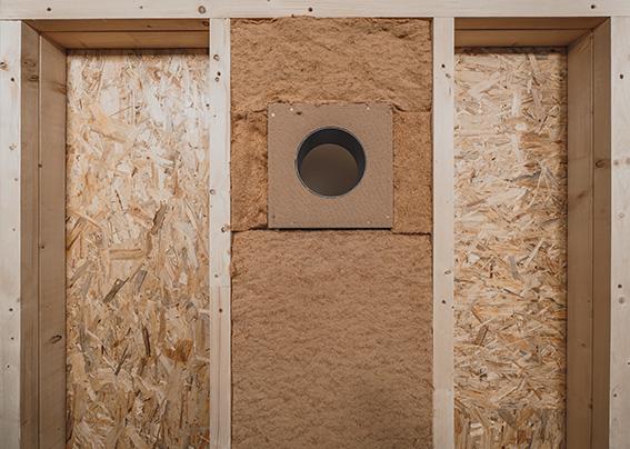 inVENTer Woodplex Holzständerwand Rückansicht